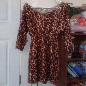 Espresso Leopard Print Like New Dress!